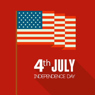 American Independence Day  Patriotic background. Vector Flat designのイラスト素材 [FYI03089801]