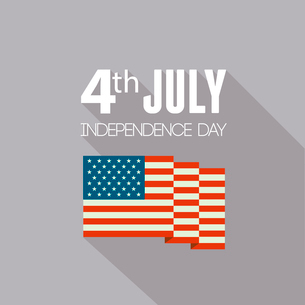 American Independence Day  Patriotic background. Vector Flat designのイラスト素材 [FYI03089802]