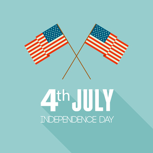 American Independence Day  Patriotic background. Vector Flat designのイラスト素材 [FYI03089803]