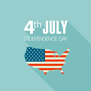 American Independence Day  Patriotic background. Vector Flat designのイラスト素材 [FYI03089805]