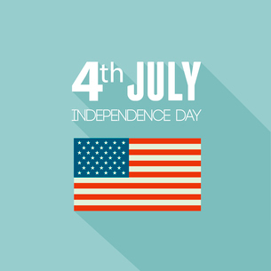 American Independence Day  Patriotic background. Vector Flat designのイラスト素材 [FYI03089807]