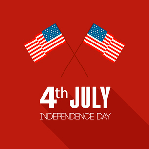American Independence Day  Patriotic background. Vector Flat designのイラスト素材 [FYI03089808]