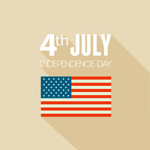American Independence Day  Patriotic background. Vector Flat designのイラスト素材 [FYI03089809]