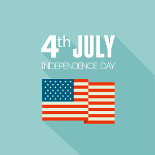 American Independence Day  Patriotic background. Vector Flat designのイラスト素材 [FYI03089810]