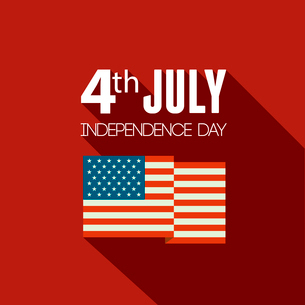 American Independence Day  Patriotic background. Vector Flat designのイラスト素材 [FYI03089822]