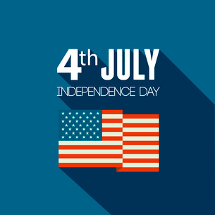 American Independence Day  Patriotic background. Vector Flat designのイラスト素材 [FYI03089824]