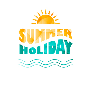 Vector illustration of colored abstract background with summer logoのイラスト素材 [FYI03089826]