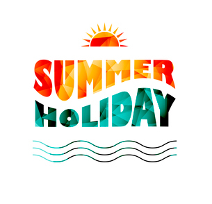 Vector illustration of colored abstract background with summer logoのイラスト素材 [FYI03089828]