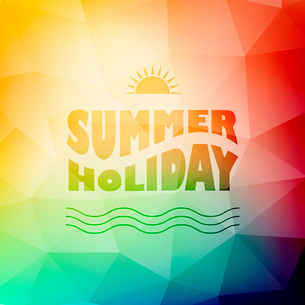 Vector illustration of colored abstract background with summer logoのイラスト素材 [FYI03089831]