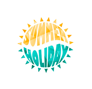 Vector illustration of colored abstract background with summer logoのイラスト素材 [FYI03089832]