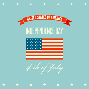 American Independence Day  Patriotic background. Vector illustrationのイラスト素材 [FYI03089847]