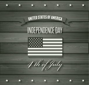 American Independence Day  Patriotic background. Vector Flat designのイラスト素材 [FYI03089856]