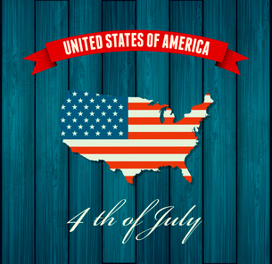 American Independence Day  Patriotic background. Vector Flat designのイラスト素材 [FYI03089860]