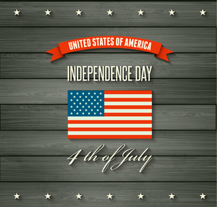 American Independence Day  Patriotic background. Vector Flat designのイラスト素材 [FYI03089861]