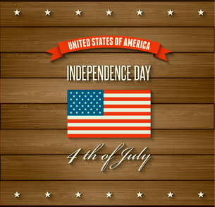 American Independence Day  Patriotic background. Vector Flat designのイラスト素材 [FYI03089862]