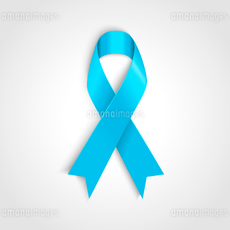 Vector Light blue ribbon as symbol of prostate cancerのイラスト素材 [FYI03089869]