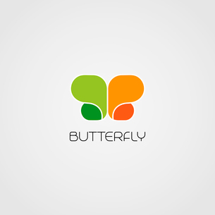 Vector Abstract butterfly symbol for logo designのイラスト素材 [FYI03089874]