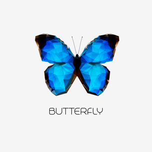 Vector Abstract butterfly symbol modern trendy designのイラスト素材 [FYI03089877]