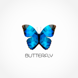 Vector Abstract butterfly symbol modern trendy designのイラスト素材 [FYI03089880]