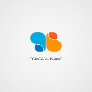 Vector illustration  Abstract symbol for logo designのイラスト素材 [FYI03089881]
