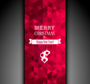 Vector illustration Christmas vintage background. EPS 10のイラスト素材 [FYI03089956]