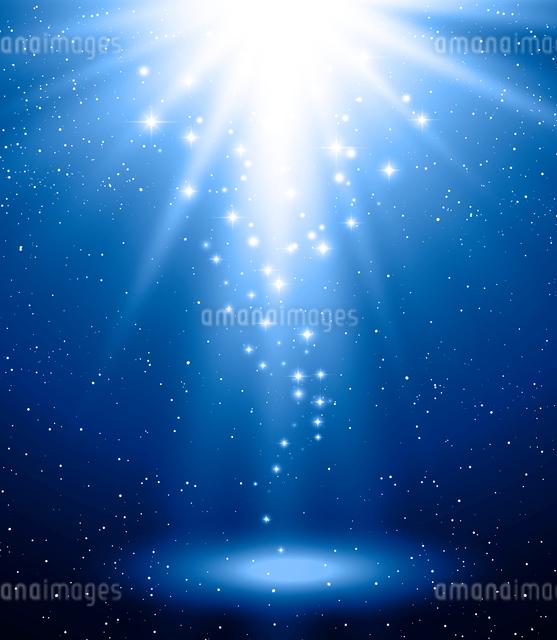 Vector  illustration Abstract magic blue light backgroundのイラスト素材 [FYI03090055]