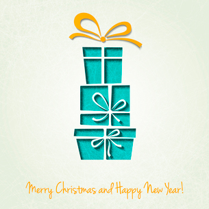 Vector Merry Christmas Paper greeting card. EPS 10のイラスト素材 [FYI03090090]