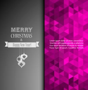 Vector illustration Christmas vintage background. EPS 10のイラスト素材 [FYI03090098]