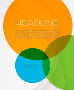 Trendy brochure design in white background.  EPS 10 Vector illustrationのイラスト素材 [FYI03090143]