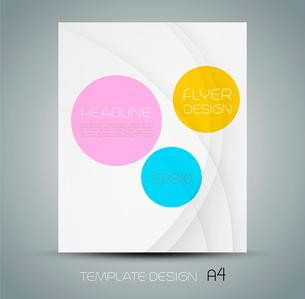 Trendy brochure design in white background.  EPS 10 Vector illustrationのイラスト素材 [FYI03090149]
