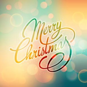 Merry Christmas Lettering Design. Vector illustration. EPS 10のイラスト素材 [FYI03090168]