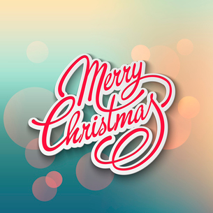 Merry Christmas Lettering Design. Vector illustration. EPS 10のイラスト素材 [FYI03090180]