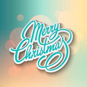 Merry Christmas Lettering Design. Vector illustration. EPS 10のイラスト素材 [FYI03090182]