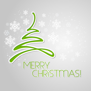 Merry Christmas tree greeting card. Paper design. Vector illustration. EPS 10のイラスト素材 [FYI03090184]