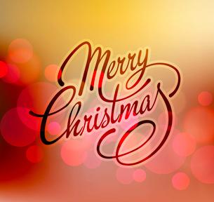 Merry Christmas Lettering Design. Vector illustration. EPS 10のイラスト素材 [FYI03090213]