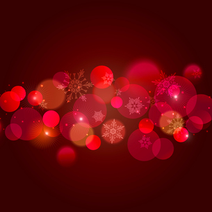 Vector  illustration Abstract Christmas red light backgroundのイラスト素材 [FYI03090227]