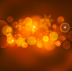 Vector  illustration Abstract Christmas red light backgroundのイラスト素材 [FYI03090254]