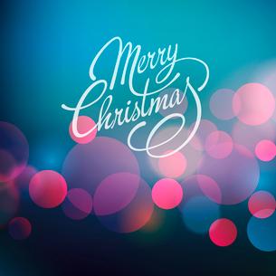 Merry Christmas Lettering Design. Vector illustration. EPS 10のイラスト素材 [FYI03090266]