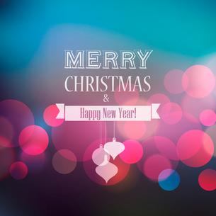 Merry Christmas Lettering Design. Vector illustration. EPS 10のイラスト素材 [FYI03090269]