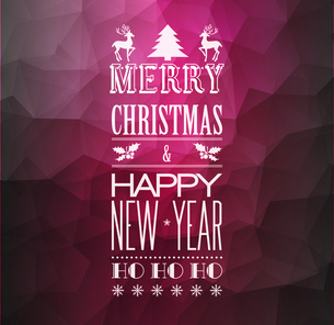 Vector  Abstract Christmas light background with retro typographyのイラスト素材 [FYI03090315]