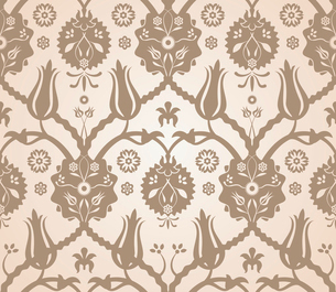 Vector seamless beige reflection floral pattern backgroundのイラスト素材 [FYI03090320]