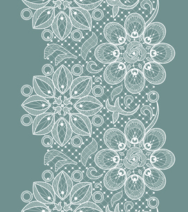 Vector Old Lace Seamless Pattern, ornamental flowersのイラスト素材 [FYI03090325]