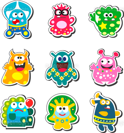 Funny cartoon monsters set isolated vector illustrationのイラスト素材 [FYI03090353]