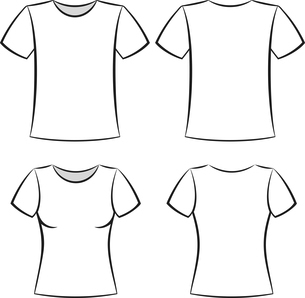 White t-shirt clothing blank template vector illustrationのイラスト素材 [FYI03090369]
