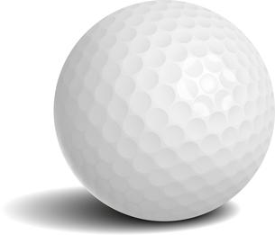 Golf sport ball with shadow vector illustrationのイラスト素材 [FYI03090378]