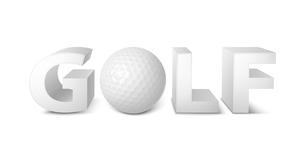 Golf ball logo, emblem template 3d vector illustrationのイラスト素材 [FYI03090387]