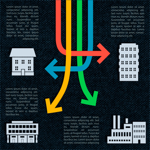 Crossed arrows real estate infographics vector illustrationのイラスト素材 [FYI03090403]