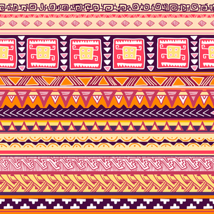 Seamless traditional culture tribal texture vector illustrationのイラスト素材 [FYI03090409]