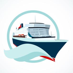 Cruise ship or liner symbol vector illustrationのイラスト素材 [FYI03090421]