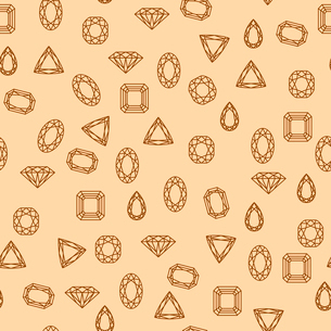 Seamless diamond and jewels on red pattern vector illustrationのイラスト素材 [FYI03090432]
